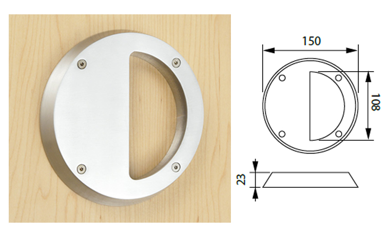 Circular-surface-mounted-pull