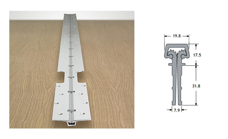 Continuous-hinge