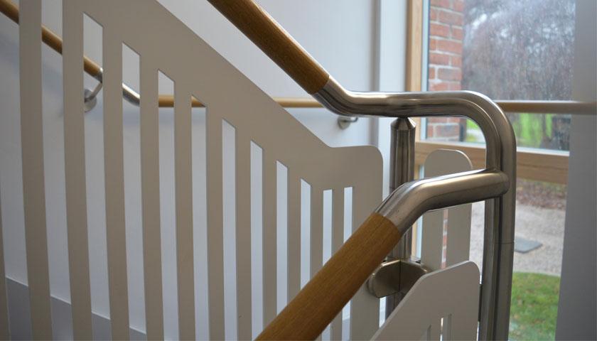 timber handrail ruthin school