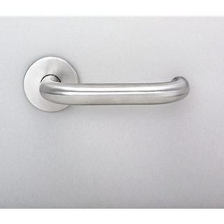 Orbis 800 Return to Door 19mm Dia Lever on Sprung Rose - Satin Stainless Steel