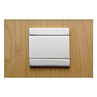 Orbis 900 Card Frame 60mm x 60mm - Satin Stainless Steel