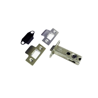 Orbis Tubular Mortice Locks & Latches 75mm - Square + Radius Forend - Electro Brass/Satin Chrome