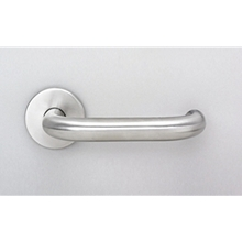 Orbis 800 Return to Door 22mm Dia Lever on Sprung Rose - Satin Stainless Steel