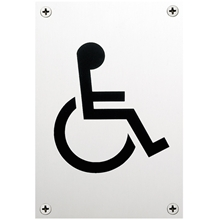 Orbis Sign - Disabled Symbol 150x100x1.5mm - Satin Stainless Steel