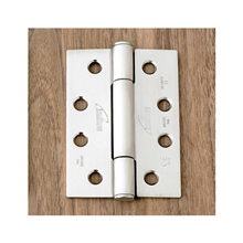 Orbis 900 Concealed Bearing Hinge Square Corners 102mm x 76mm - Polished Stainless Steel