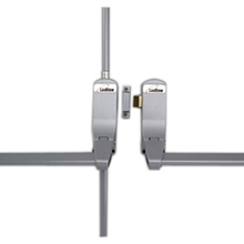 Orbis Push Bar Double Rebated Door Panic Set - Silver