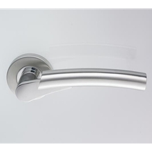 Orbis 800 Arched Lever on Sprung Rose - Polished/Satin Stainless Steel (Dual)