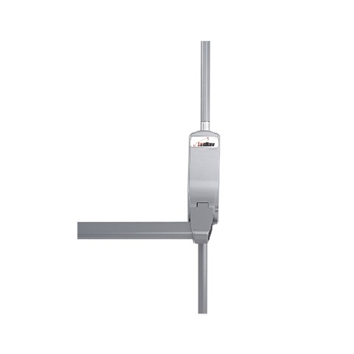 Orbis Push Bar Single Panic Bolt with Top & Bottom Pullman Latches - Silver