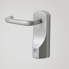 Orbis Lever Outside Access Device with Euro Cylinder - Silver